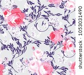 abstract floral pattern in... | Shutterstock .eps vector #1053031490