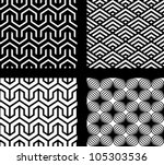 Set Of 4 Vector Abstract...