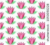 beauty pink flower pattern | Shutterstock . vector #1053050228