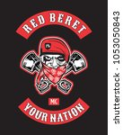 design for motorcycle club logo ... | Shutterstock .eps vector #1053050843