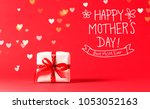 mother's day message with... | Shutterstock . vector #1053052163