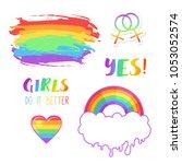 girls do it better. lgbt logo...   Shutterstock .eps vector #1053052574