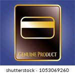 gold badge or emblem with... | Shutterstock .eps vector #1053069260