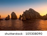Sunset At Land's End  Cabo San...