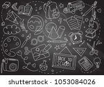 back to school poster with... | Shutterstock .eps vector #1053084026