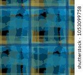 plaid. seamless grunge... | Shutterstock .eps vector #1053099758