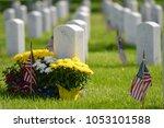 national flags ant headstones... | Shutterstock . vector #1053101588