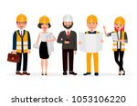 engineers cartoon characters... | Shutterstock .eps vector #1053106220