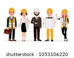 engineers cartoon characters...   Shutterstock .eps vector #1053106220