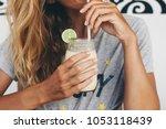 smoothie lemon refreshing drink   Shutterstock . vector #1053118439