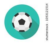 flat icon soccer ball   Shutterstock .eps vector #1053121514