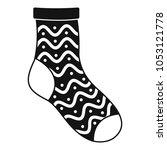nice sock icon. simple... | Shutterstock .eps vector #1053121778