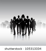group of people in the city | Shutterstock .eps vector #105313334