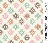 ethnic boho seamless pattern.... | Shutterstock .eps vector #1053142640
