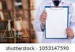law concept judge law medical... | Shutterstock . vector #1053147590