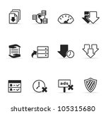 file sharing icon set.... | Shutterstock .eps vector #105315680