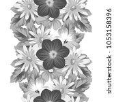 abstract seamless floral... | Shutterstock .eps vector #1053158396