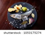 herring entirely with ginger... | Shutterstock . vector #1053175274