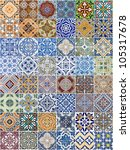 set of 48 ceramic tiles... | Shutterstock . vector #105317678
