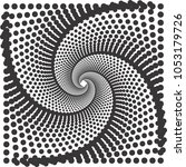 halftone raster pattern or... | Shutterstock . vector #1053179726