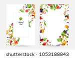 vegetables. design collection... | Shutterstock .eps vector #1053188843