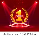 stage podium with lighting ... | Shutterstock .eps vector #1053194456