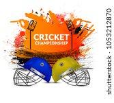 cricket championship   cricket   | Shutterstock .eps vector #1053212870