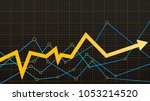 abstract financial chart with... | Shutterstock .eps vector #1053214520