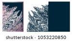 laser cut ornamental vector... | Shutterstock .eps vector #1053220850