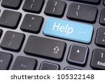 message with internet online technical supports or help concepts. - stock photo