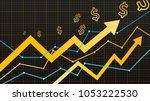 stock vector graph  | Shutterstock .eps vector #1053222530