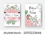 wedding invitation card... | Shutterstock .eps vector #1053223646