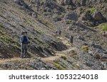 alpe di siusi plateau ... | Shutterstock . vector #1053224018