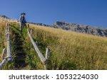 alpe di siusi plateau ... | Shutterstock . vector #1053224030