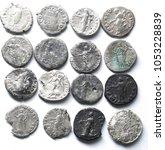 roman denarius on white... | Shutterstock . vector #1053228839