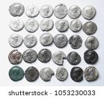 roman denarius on white... | Shutterstock . vector #1053230033