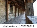 wooden floor  ancient castle in ... | Shutterstock . vector #1053230219