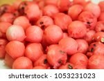 watermelon balls in plate | Shutterstock . vector #1053231023
