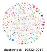 multi colored microbes... | Shutterstock .eps vector #1053240014