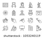 art icon set. included the... | Shutterstock .eps vector #1053240119