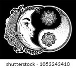 yin and yang symbol with... | Shutterstock .eps vector #1053243410