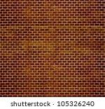 Decorative Brown Brick Wall...