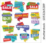 modern sale stickers and tags...   Shutterstock .eps vector #1053265289