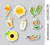 vector set of icons on the... | Shutterstock .eps vector #105328178