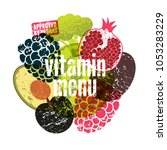 vitamin menu. approved by... | Shutterstock .eps vector #1053283229