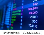 stock market graph analysis... | Shutterstock . vector #1053288218