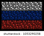 russia flag pattern organized...   Shutterstock .eps vector #1053290258