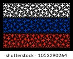 russian state flag composition...   Shutterstock .eps vector #1053290264