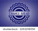 change ahead denim background   Shutterstock .eps vector #1053298550