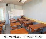 empty school classroom | Shutterstock . vector #1053319853